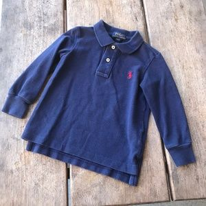 Boys Polo Ralph Lauren Navy Blue Long Sleeved 2